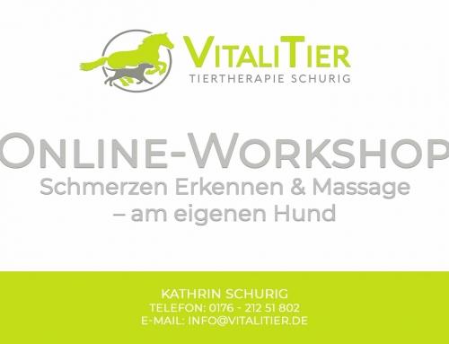 Online-Workshops: Schmerzen erkennen und Massagen am eigenen Hund